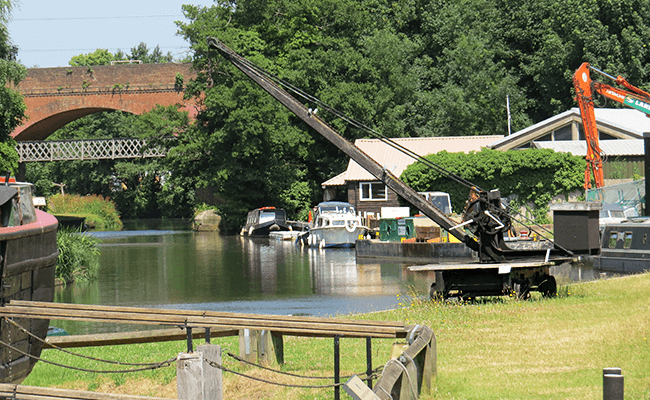 River Wey in Sunbury, Surrey